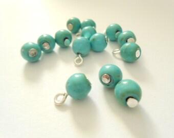 Turquoise Dangle Beads