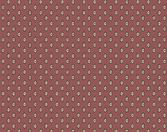 Jo Morton Amelia Andover Reproduction Fabric - 7273 P -  Purple and Brown Ditsy Fabric 100% Quilting Fabric