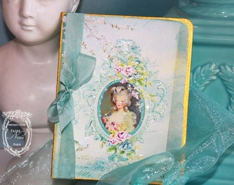 Marie Antoinette Musique of Enchantment Set of Six Gold Gilded Cards Featured In Creating Marie Style Magazine