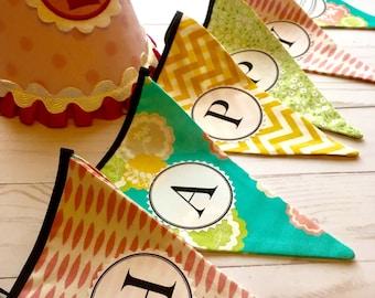 Happy Birthday Fabric Bunting Banner