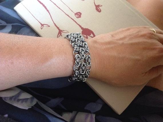 Byzantine Lace - Stainless Steel Cuff Bracelet