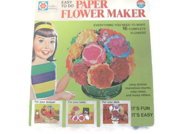 Vintage crafts 1970s tissue paper flower maker flower kit teen vintage crafts 1970s tissue paper flower maker flower kit teen craft flower power paper flowers from thirstyowlvintage on etsy studio mightylinksfo Image collections
