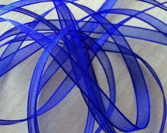 Blue chiffon Ribbon 320 light and translucent