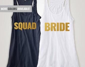 Bride Squad, bride,bridal,shirts,tank,bridal tanks,bachelorette,bachelorette party,wedding,wedding,gifts,bridesmaid gifts,bridesmaid,tees