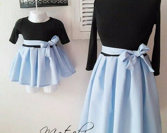 Mother and daughter matching dresses, perfect fit, elastic !