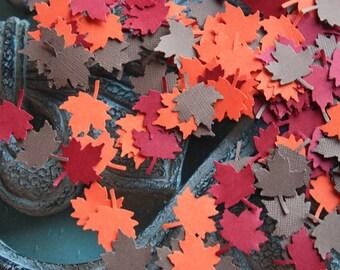 150 Maple Leave Confetti / Die Cut / Cutout  CHOOSE COLORS