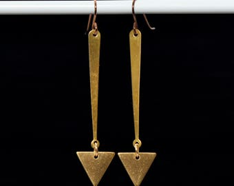 Triangle Pendulum Earrings