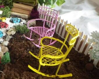 Color Choice Rocker Miniatures for Fairy Garden or Dollhouse