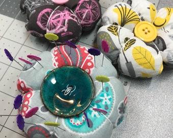 Flower pin cushions