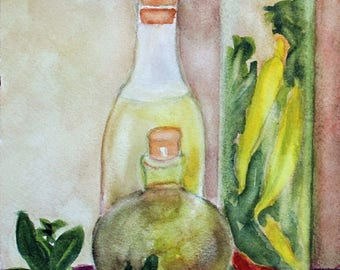 Watercolor Painting Watercolor Art Herbs Spices Prints Giclee wrap canvas refrigerator magnets Fine Art Gift Ideas Carol Lytle #69