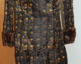 1950's Irene exclusively for Bullocks Wilshire suit with fur