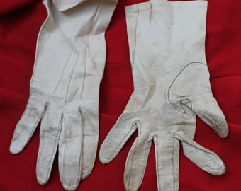 White Kid leather gloves REF 278
