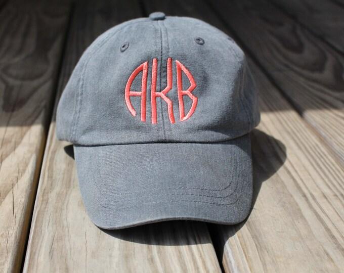 Monogrammed Hat Baseball Cap, Bridesmaid Gift, Groomsman Gift, Personalized, Monogrammed