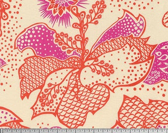 True Colors by Anna Maria Horner for Free Spirit - Filigree - Coral - FQ Fat Quarter cotton quilt fabric
