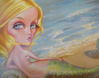 Mermaid Art by Lori Gutierrez!  Mermaid Vixen, Beautiful Blonde, Gorgeous and Fun!
