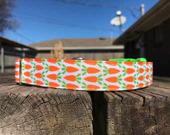 Easter, Spring, Carrots Dog Collar