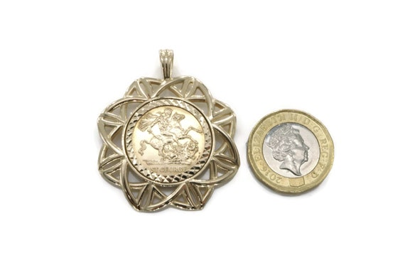Gold sovereign pendant gold coin pendant large coin mount gold sovereign pendant gold coin pendant large coin mount yellow gold mount sovereign gold sovereign sovereign necklace coin mount aloadofball Images