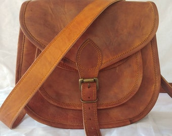 Beautiful brown rustic shoulder  bag /camel lether handbag /cross body bag /womens bags/boho bag/womens gift/leather purse