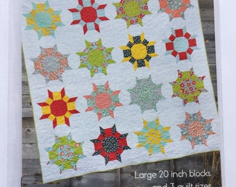 WALLFLOWERS quilt pattern by Cluck Cluck Sew - 3 sizes included - FUN!!