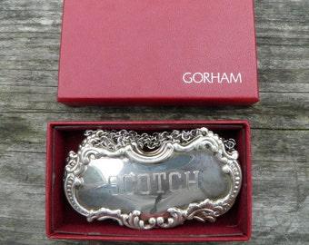 Vintage Gorham Decanter Badges Silver Electro plated-set of 4