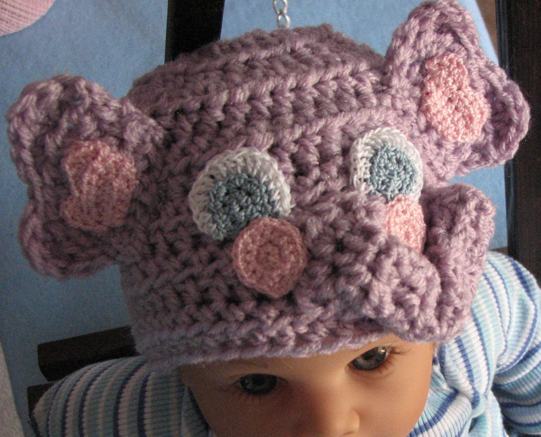 Elephant - Infant Elephant Hat Crochet Pattern - Elephant Pattern ...