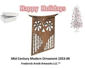 1053-6 Mid Century Modern Christmas Ornament