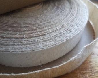 "10 yds of 7/8"" Cotton Hemp Ribbon"