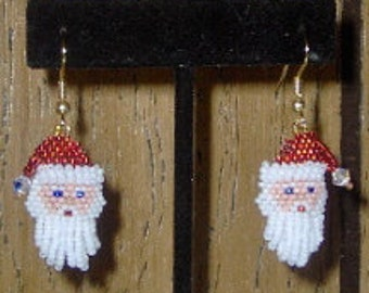 Santa earrings - Beading Pattern