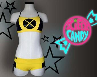 X-Kini X-back HERO-KINI  by SciFeyeCandy X-Men inspired Swimsuit - Made to Order