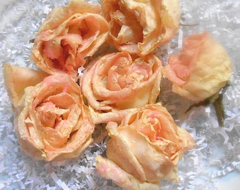 ROSE GOLD CANDIED Real Roses Edible Roses, Matching Freeze Dried Rose Petals, Weddings, Cupcake Toppers, Naked Cake Flowers