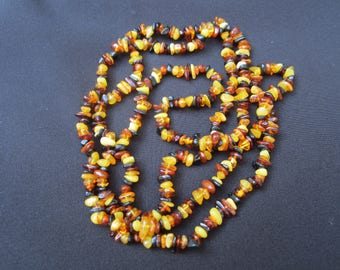 Beautiful Multi-Colored Amber Necklace FREE SHIPPING (US)