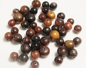 Large African Horn Beads, Ethnic Beads, Tribal Beads, Jewelry Supplies (AM121)