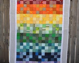 Gradient Rainbow Quilt