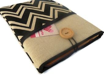 ipad mini case, ipad mini cover, ipad mini sleeve, ipad mini 4 sleeve  - Chevron Fabric case with pocket, iPad mini bag