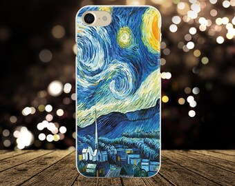 "Van Gogh ""Starry Night"" Case Iphone 7 Case Vincent Van Gogh phone case Iphone 6s Case Art Case Iphone 8 Case Iphone 7 plus Case Iphone Case"