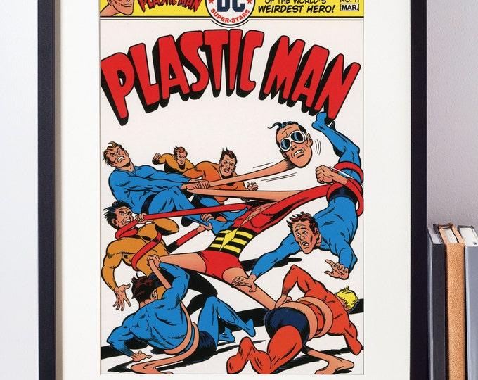 DC Comics Wall Art / Plastic Man / Superhero Poster / Nerdy Gift / Geekery / Batman Wall Art / Superhero Nursery Decor / Geeky Art