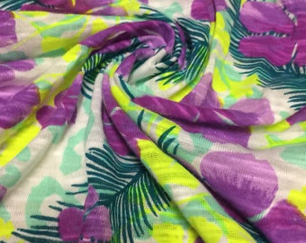 Burn Out knit Floral Print 2 Yards