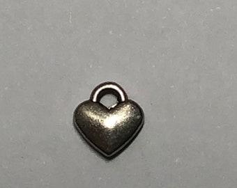 Small Puffed Heart Charm