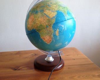 Large light globe Tecnodidattica - french - vintage