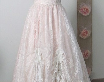 dress, wedding gown,boho, costume,  lace, flowers, pearls, crystals, jessica mcclintock gown, destination, fairy tale gown, timelesspeony