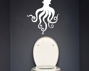 "Octopus Wall Decal /  Sea Life Wall Sticker (20"" x 26"")"