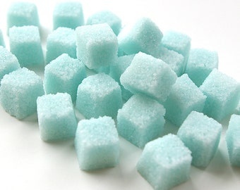 Blue Sugar Cubes, Flavored Sugar Cubes, Tea Party, Champagne Toast, Tea, Coffee, Favors, Shower, High Tea, Mad Hatter Tea Party, Baby Shower