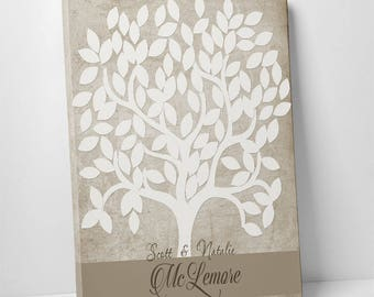 Wedding Guestbook Alternative, Print, Mounted or Gallery Wrapped Canvas, Wedding Tree Guest Book, Wedding Signing Tree