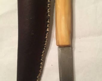 Grapewood knife with sheath