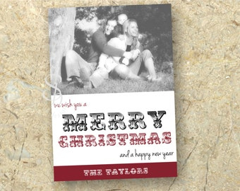 DIY Christmas Photo Card