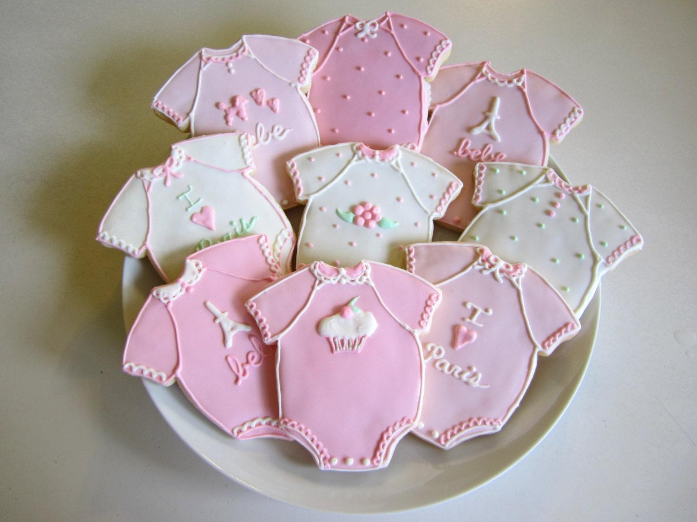 Baby Shower Cookies Baby Girl Favors Baby Girl Cookies