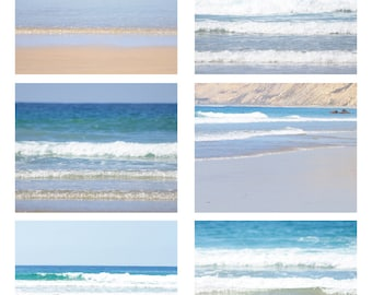 Beach Photography - Beach - Fine Art Photography - Photo Set - Wall Print - Nautical - Photography - Ocean - Home Decor - Blue Decor