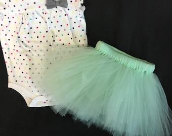 Infant Girl Tutu Skirt and OneZ Set Size 0-3 Months