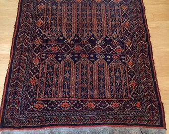 vintage Persian style navy rug