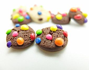 chocolate cookies earring studs
